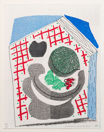 David Hockney, 'Bowl of Fruit, April 1986', 1986