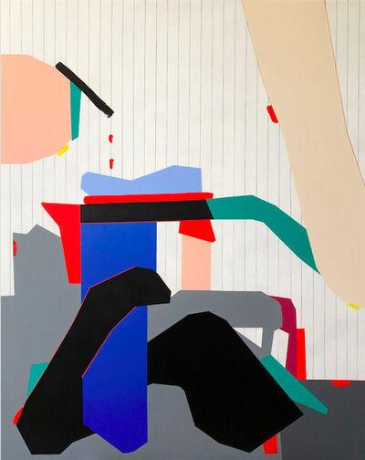 Ana Elena Garuz, 'Sin titulo (composición con pared a rayas)', 2021