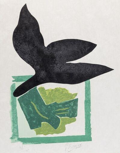 Georges Braque, 'Oiseau Noir Sur Fond Vert (Vallier 181)', 1962