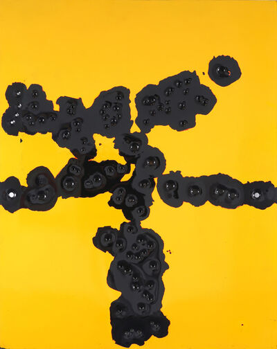 Nick Hunt, 'Serious Painting (Yellow on Black)', 2018