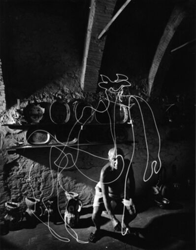 Gjon Mili, 'Pablo Picasso 'draws' a centaur in the air with light', 1949