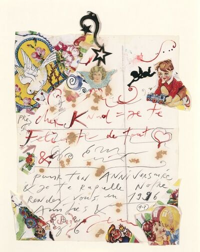 "Jean Tinguely, 'Untitled, ""Cher Knud...""'"