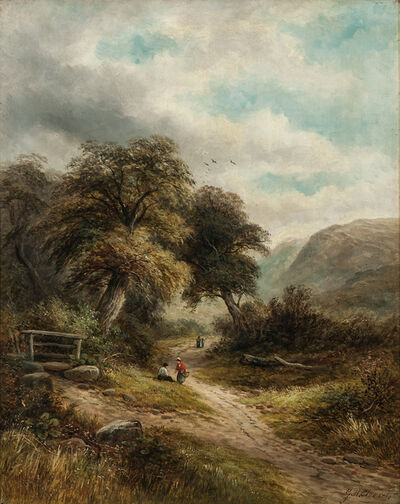 George Henry Clements, 'Lane at Aber, N. Wales'