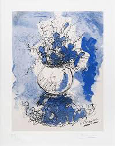 Georges Braque, 'BOUQUET FLEURS A L'AQUARELLE', 1957