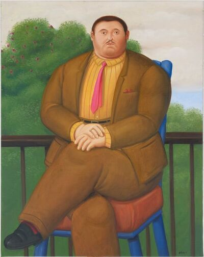 Fernando Botero, 'Man on a Balcony', 2011
