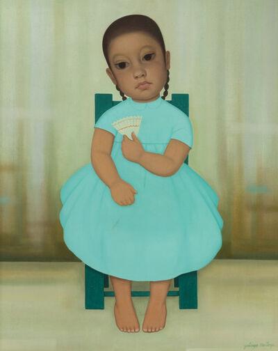 Gustavo Montoya, 'Little girl with fan'