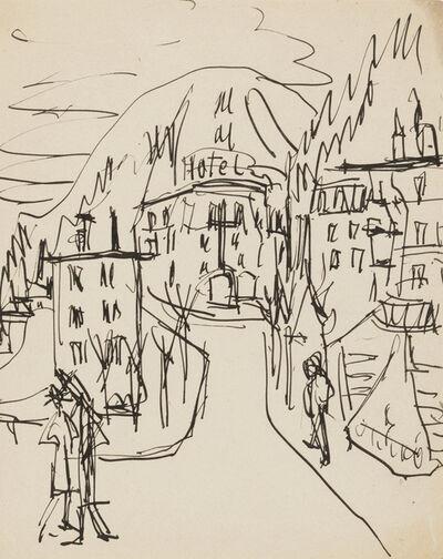 Ernst Ludwig Kirchner, 'Hotel in Davos', ca. 1923