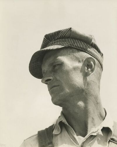 Walker Evans, 'Construction worker, Louisiana', 1936