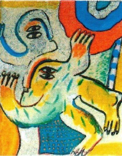 Horst Antes, 'Zweifigurig II', 1964