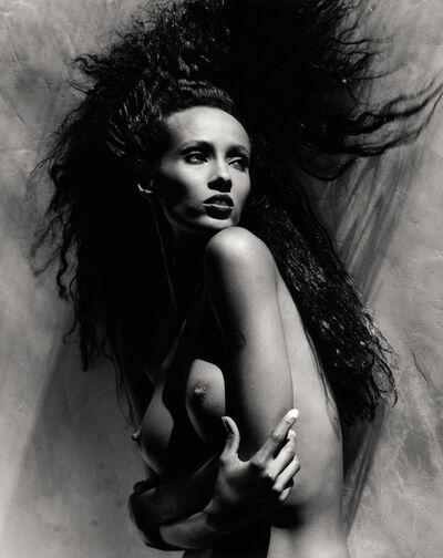 Greg Gorman, 'Iman Holding Breasts : L.A.', 1988