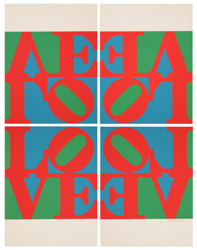 "Robert Indiana, '""Love Wall"" (Love Frieze) from ""Formen der Farbe""', 1967"
