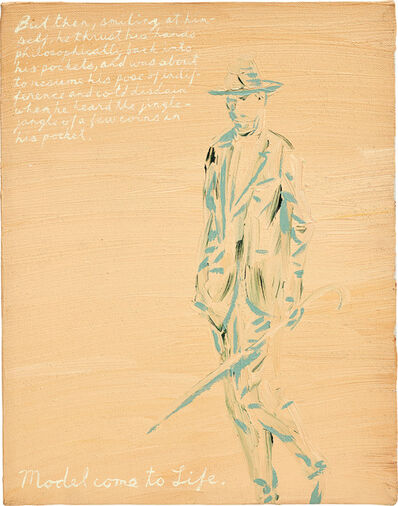 Raymond Pettibon, 'No title (Model come to life...)', 1991