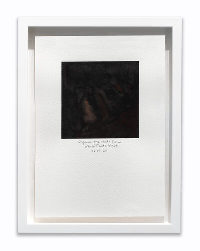 "Amanda Williams, 'What black is this you say? -- ""You buy organic pork rinds from Whole Foods"" -- black (Study for 06.05.20)', 2020"
