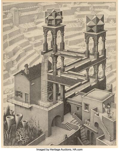 Maurits Cornelis Escher, 'Waterfall', 1961