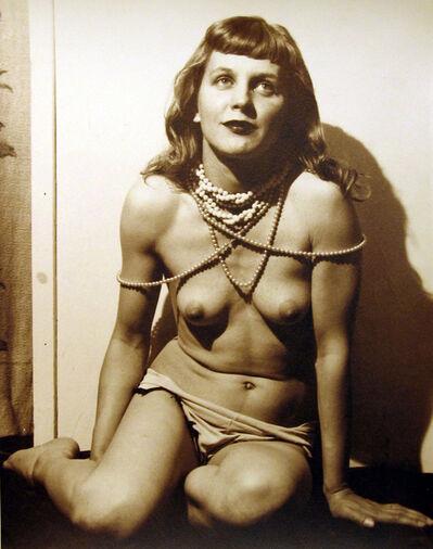 Eugene Von Bruenchenhein, 'Marie w Beads', ca. 1940