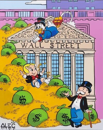 Alec Monopoly, '$ Team Outside Wall $treet ', 2021