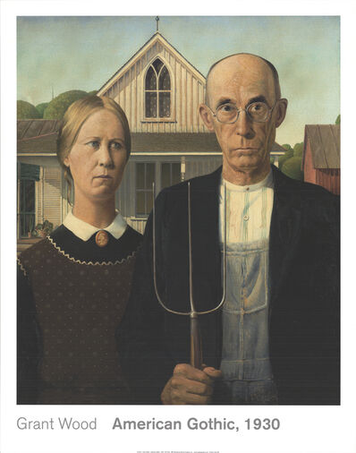Grant Wood, 'American Gothic', 2014
