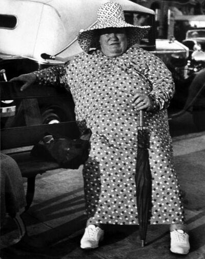 Lisette Model, 'Promenade des Anglais (Woman in Flowered Dress, Rivera)', 1937