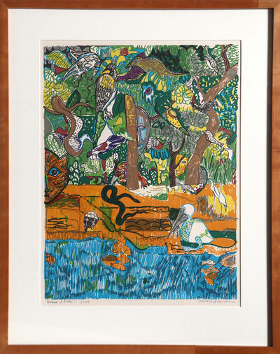 Romare Bearden, 'Dreams of Exile (Green Snake)', 1971