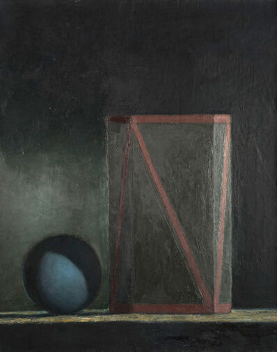 John Stuart Gibson, 'Small Zig-Zag and Blue Ball', 1986