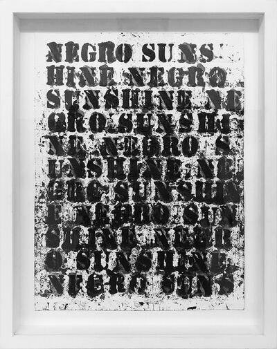 Glenn Ligon, 'Study for Negro Sunshine II, #36', 2011