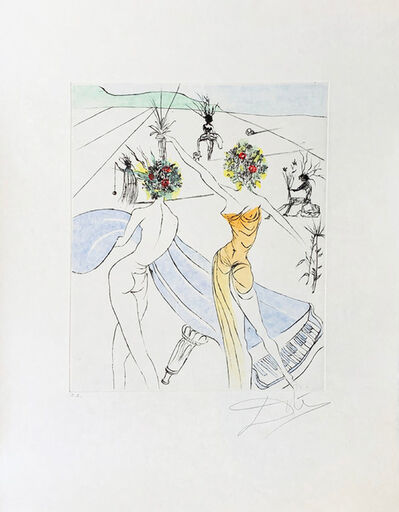 Salvador Dalí, 'Flower Woman with Soft Piano', 1973