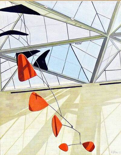 Richard Haas, 'National Gallery with Alexander Calder Mobile', 2015