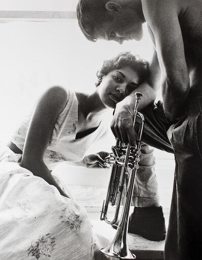 William Claxton, 'Helima and Chet Baker, Redondo Beach', 1955