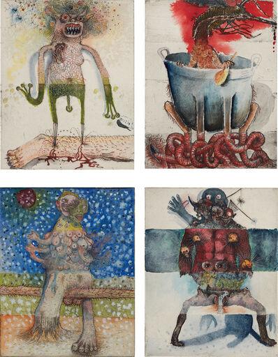 Jake & Dinos Chapman, 'Four works: (i) Dagger Legs I; (ii) Mosquito in a bath tub I; (iii) Milking boobs I; (iv) Urinating I', 2000