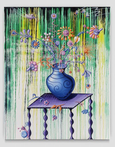 Kenny Scharf, 'Fleurs et Vase Sur la Table', 2019