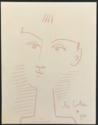 Jean Cocteau, 'Portrait of a Boy (Red Crayon)', 1958