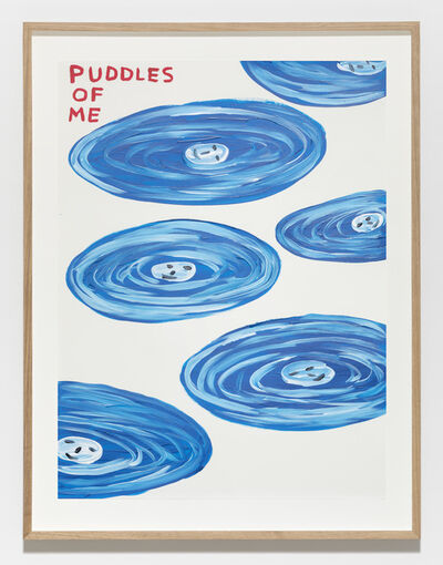 David Shrigley, 'Untitled (Puddles of me)', 2019