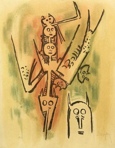 """Wifredo Lam, '""""Ils tendent leurs muscles grélés jetés vérolés""""', 1973"""