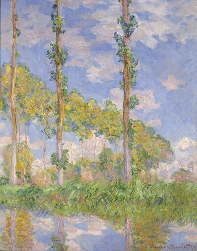 Claude Monet, 'Poplars in the Sun', 1891