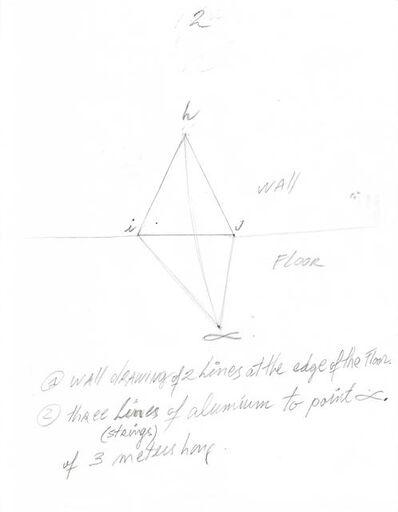 David Lamelas, 'Instrucciones para Situación de un triángulo en dirección al alfa', 2018