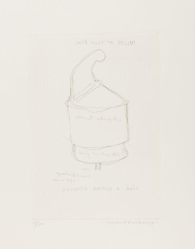 Marcel Duchamp, 'Pulled at Four Pins (Schwarz 609)', 1964