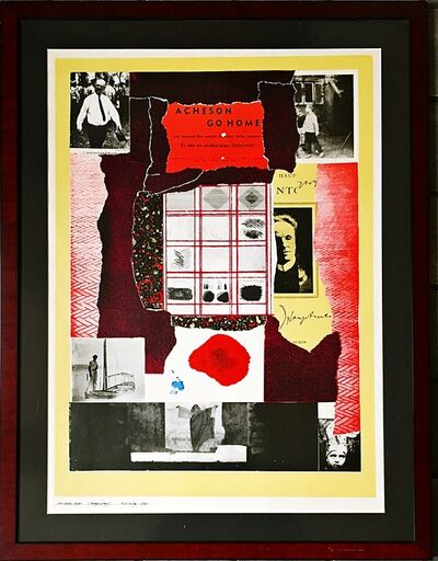 R. B. Kitaj, 'Acheson Go Home (Unique proof inscribed to art critic and curator Gene Baro)', 1964