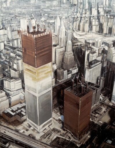Valerio D'Ospina, 'Twin Towers Under Construction', 2014