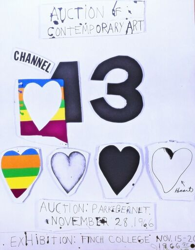 Jim Dine, 'I Love Public Television (for Channel 13)', 1966