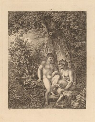 Salomon Gessner, 'Two Satyrs in a Forest', 1777