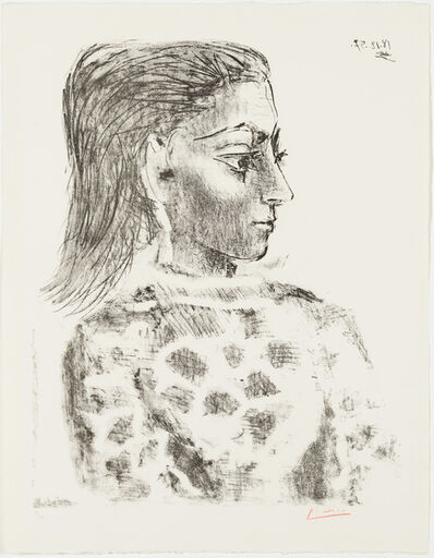 Pablo Picasso, 'Bust with Check-Cloth Bodice - Jacqueline ', 1957