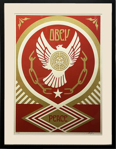 Shepard Fairey (OBEY), ''Peace & Freedom Dove (Gift)' Framed', 2012
