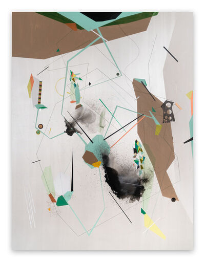 Dannielle Tegeder, 'Escapement Mechanism, Cross Sections of Permeability and Lightness (Abstract painting)', 2018