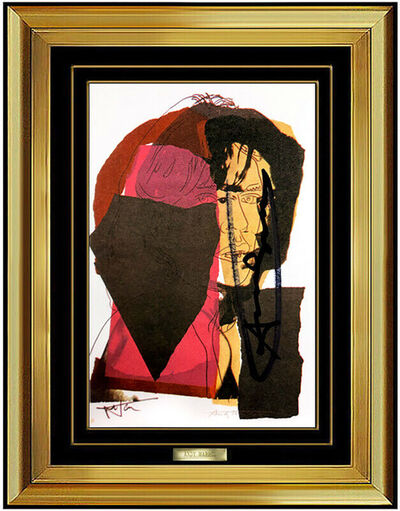 Andy Warhol, 'Andy Warhol RARE Rolling Stones Mick Jagger Portrait Lithograph Hand Signed Art', 1975
