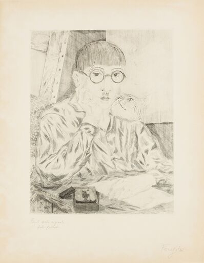 Léonard Tsugouharu Foujita, 'Portrait de l'artiste'