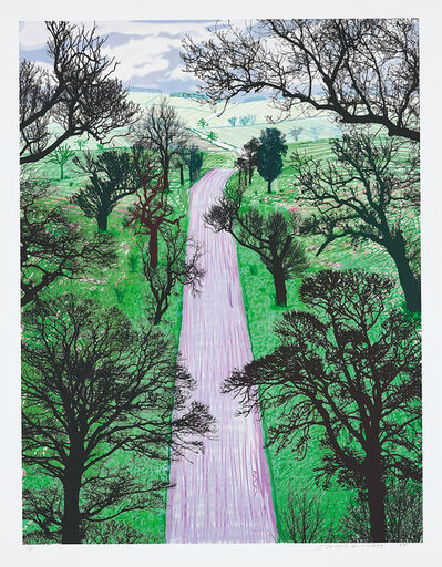 David Hockney, 'Winter Road Near Kilham', 2008