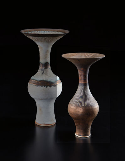 Lucie Rie, 'Bottle with flaring lip', 1970s