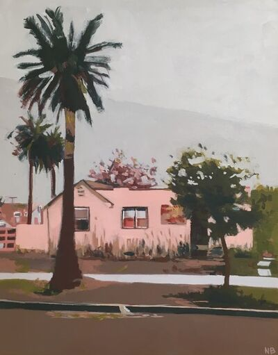 Nancy Benton, 'Palm Trees and Pink House', 2019