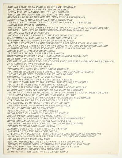 Jenny Holzer, 'Truisms', 1978