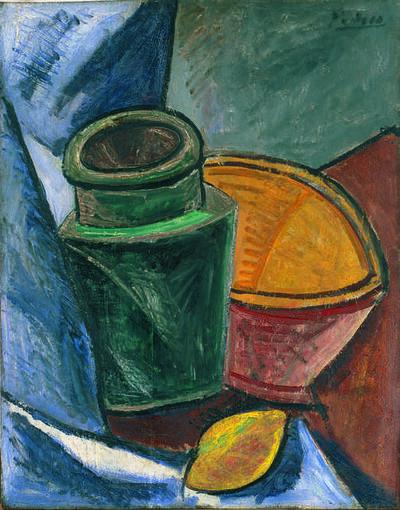 Pablo Picasso, 'Cruche, bol et citron (Jug, Bowl, and Lemon)', 1907